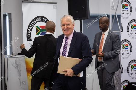 Stock Picture of Britian's Lord Peter Hain arrives at the judicial commission of inquiry into state capture held in Johannesburg, South Africa, 18 November 2019. Hain took to the stand at the public hearings where he's testifying about how domestic corruption was facilitated on the international stage to enable money laundering. The official proclamation of the commission in the Government Gazette is that the commission is to inquire, investigate and make recommendations into any and all allegations of state capture, corruption and fraud in the public sector with note to the Gupta brothers, former president Jacob Zuma and his son, Duduzane Zuma.