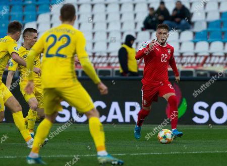 Adem Ljajic of Serbia comes forward on the ball