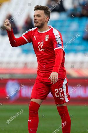 Adem Ljajic of Serbia gestures