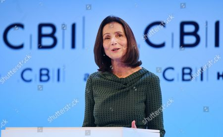 Carolyn Fairbairn, Director-General of the CBI, delivers a speech at the annual Confederation of British Industry (CBI) conference in London, Britain, 18 November 2019. All party leaders are pitching their business policy to Britain's business community. Britons go the polls 12 December in a general election.