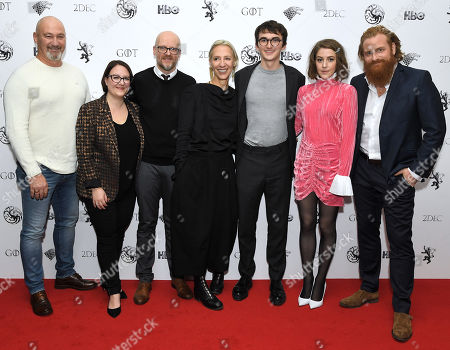 Tommy Dunne, Sarah Gower, Barrie Gower, Michele Clapton, Isaac Hempstead Wright, Gemma Whelan and Kristofer Hivju