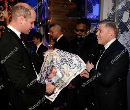 Prince William, Romesh Ranganathan and Rob Beckett