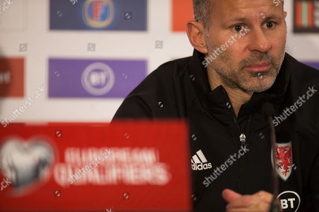 Wales manager Ryan Giggs speaks to the media during press conference ahead of the Euro 2020 Qualifier against Hungary