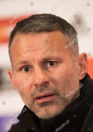 Stock Picture of Wales manager Ryan Giggs speaks to the media during press conference ahead of the Euro 2020 Qualifier against Hungary