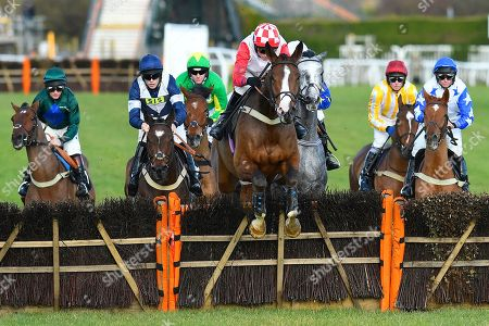 Winner of The Sky Sports Racing On Sky 415 Novices' Hurdle Go Whatever ridden by Tom Cannon (m) and trained by Chris Gordon over the last first time around  during Horse Racing at Plumpton Racecourse on 18th November 2019