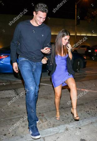 Stock Photo of Danilo Gallinari and Eleonora Boi outside Craigs Restaurant in West Hollywood