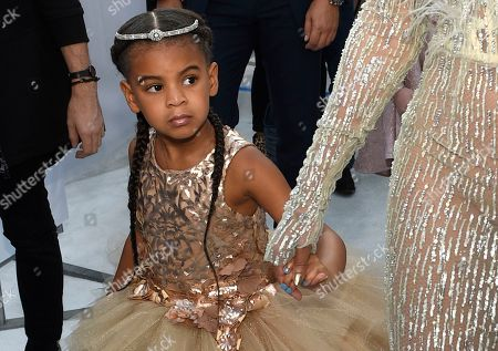 """Blue Ivy, daughter of Beyonce, arrives at the MTV Video Music Awards at Madison Square Garden in New York. At just 7, Blue Ivy Carter is an award-winning songwriter. Jay-Z and Beyoncé's daughter won the Ashford & Simpson Songwriter's Award at the Soul Train Awards, for co-writing her mom's hit """"Brown Skin Girl,"""" a song celebrating dark- and brown-skinned women. Ivy gives a vocal performance that opens and closes the song, which also features Wizkid and Saint Jhn"""
