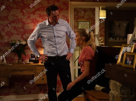Ep 8654 Thursday 21st November 2019 - 1st Ep When Leanna, as played by Mimi Slinger, throws up in front of Liam Cavanagh, as played by Jonny McPherson, as a result of taking the morning after pill, Bernice Blackstock reveals the truth.