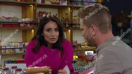 Ep 8650 Monday 18th November 2019  Leyla Harding, as played by Rokhsaneh Ghawam-Shahidi, struggles to take it in when David Metcalfe, as played by Matthew Wolfenden, reveals Maya is being released and worries over whether she might try to contact Jacob.