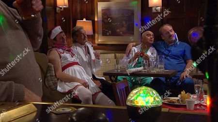 Ep 8661 Thursday 28th November 2019 - 1st Ep Liam Cavanagh's stag do. With Rodney Blackstock, as played by Patrick Mower, Rishi Sharma, as played by Bhasker Patel, Jimmy King, as played by Nick Miles.