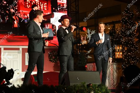 Stock Photo of Victor Micallef, Fraser Walters and Clifton Murray of The Tenors