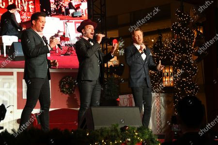 Stock Image of Victor Micallef, Fraser Walters and Clifton Murray of The Tenors