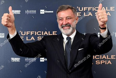 Luca Barbareschi poses during the photocall for ''L'Ufficiale e la Spia'' (J'Accuse) in Rome, Italy, 18 November 2019. The movie opens in Italian theaters on 21 November.