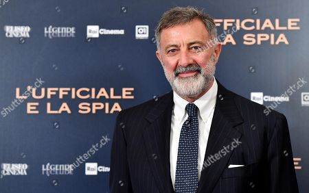 Stock Picture of Luca Barbareschi poses during the photocall for ''L'Ufficiale e la Spia'' (J'Accuse) in Rome, Italy, 18 November 2019. The movie opens in Italian theaters on 21 November.