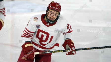 Tyler Ward during an NCAA hockey game on in Denver