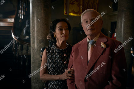 Stock Picture of Geraldine Chaplin as Wallis Simpson and Sir Derek Jacobi as the Duke of Windsor