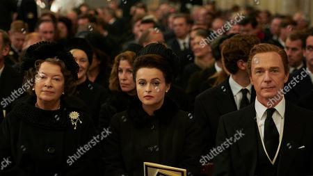 Marion Bailey as Queen Elizabeth the Queen Mother, Helena Bonham Carter as Princess Margaret and Ben Daniels as Antony Armstrong-Jones