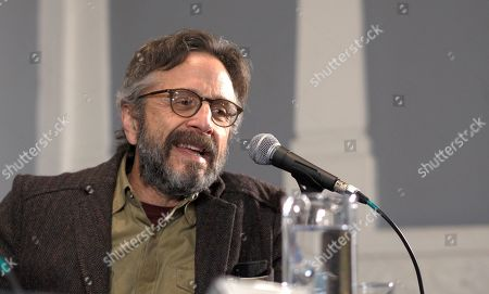 Marc Maron attends a press conference on the film 'Sword of Trust' during the 57th edition of the Gijon International Film Festival, in Gijon, Asturias, northern Spain, 18 November 2019. The festival runs from 15 to 23 November.
