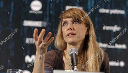 Lynn Shelton attends a press conference on the film 'Sword of Trust' during the 57th edition of the Gijon International Film Festival, in Gijon, Asturias, northern Spain, 18 November 2019. The festival runs from 15 to 23 November.
