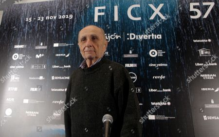 Stock Photo of Franco Piavoli attends a retrospective exhibition of his work during the 57th edition of the Gijon International Film Festival, in Gijon, Asturias, northern Spain, 18 November 2019. The festival runs from 15 to 23 November.