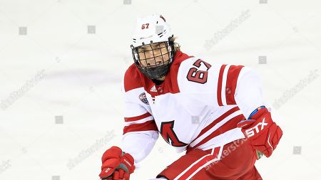 Miami RedHawks' Phil Knies (67) during an NCAA hockey game against the Minnesota-Duluth Bulldogs, in Oxford, Ohio