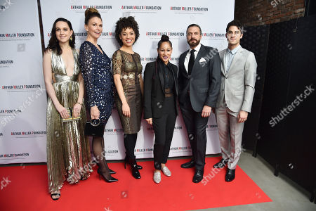 Stock Photo of Lena Hall, Sutton Foster, Sasha Hutchings, Ayodele Casel, Raul Esparza, and Darren Criss