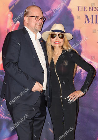 Promoter Ralf Sesselberg (L) and US singer La Toya Jackson attend the presentation of 'Forever - King of Pop', a show about late Michael Jackson, in Berlin, Germany, 18 November 2019. The show, which travels to 15 German cities, opens in Berlin on 10 January 2020.