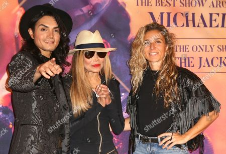 Dancer and singer Lenny Jay, singer La Toya Jackson, and dancer Yurena Molina attend the presentation of 'Forever - King of Pop', a show about late Michael Jackson, in Berlin, Germany, 18 November 2019. The show, which travels to 15 German cities, opens in Berlin on 10 January 2020.