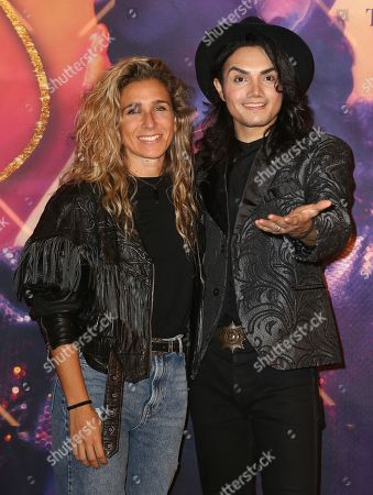 Dancer Yurena Molina (L) and dancer and singer Lenny Jay attend the presentation of 'Forever - King of Pop', a show about late Michael Jackson, in Berlin, Germany, 18 November 2019. The show, which travels to 15 German cities, opens in Berlin on 10 January 2020.