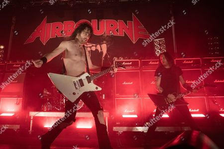Stock Image of Joel O'Keeffe and Matt Harrison - Airbourne