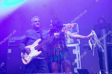 Stock Photo of Happy Mondays - Paul Ryder and Rowetta