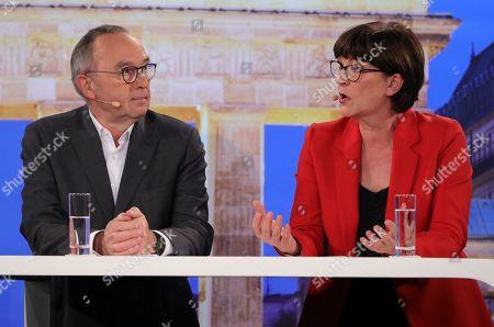 Editorial photo of Candidates debate for SPD party leadership, Berlin, Germany - 18 Nov 2019