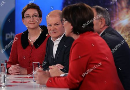 Editorial picture of Candidates debate for SPD party leadership, Berlin, Germany - 18 Nov 2019