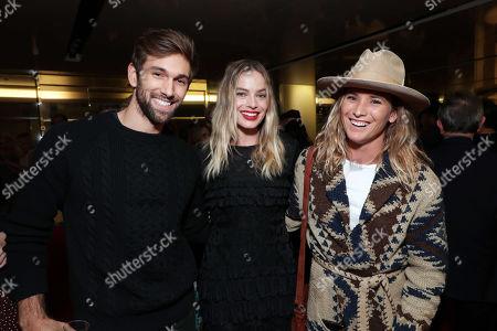 Nick Davis, Margot Robbie and Pro Surfer Courtney Conlogue