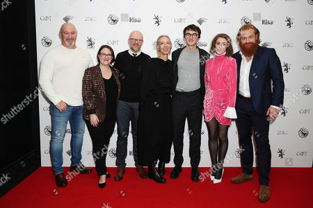 Game of Thrones Actors and Crewe, Weapons Master Tommy Dunne, Prosthetics Department's Sarah Gower and Barrie Gower, Costume Designer Michele Clapton, Isaac Hempstead Wright, Gemma Whelan, Kristofer Hivju