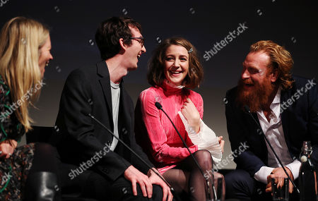 Isaac Hempstead Wright, Gemma Whelan and Kristofer Hivju