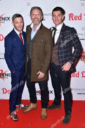 Jamie Crew, Ian Reddington and Matt Lapinskas