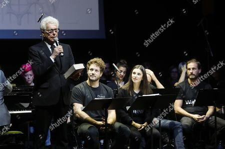 British writer Ken Follet attends the reading of his novel 'The Pillars of the Earth' in Madrid, Spain, 18 November 2019. 'The Pillars of the Earth' musical theater will premier worldwide at the EDP theater in Madrid, Spain, in October 2020.