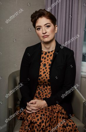 """This photo shows director Marielle Heller posing for a portrait in New York to promote her film, """"A Beautiful Day In The Neighborhood"""