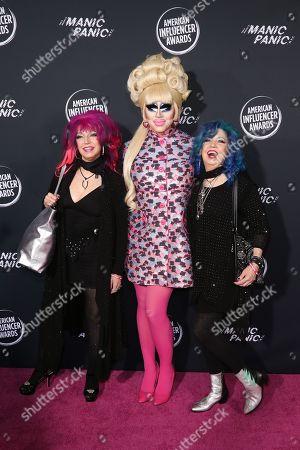 Stock Picture of Snooky Bellomo, Trixie Mattel and Tish Bellomo