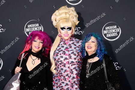 Stock Photo of Snooky Bellomo, Trixie Mattel and Tish Bellomo