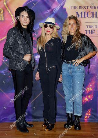 Singer Lenny Jay, La Toya Jackson and dancer Yurena Molina Torres