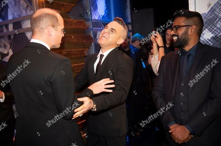 Prince William, Robbie Williams and Romesh Ranganathan