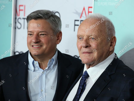 Ted Sarandos and Sir Anthony Hopkins