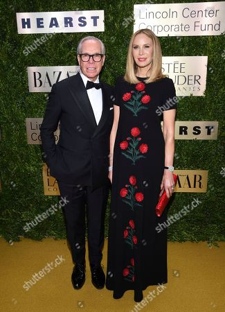 Tommy Hilfiger, Dee Hilfiger. Fashion designer Tommy Hilfiger, left, and wife Dee Hilfiger arrive at The Lincoln Center Corporate Fund Fashion Gala honoring Leonard A. Lauder at Alice Tully Hall, in New York