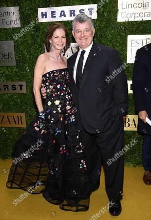 Stock Photo of William P. Lauder, Lori Kanter Tritsch. Estee Lauder Companies executive chairman William P. Lauder, right, and wife Lori Kanter Tritsch arrive at The Lincoln Center Corporate Fund Fashion Gala honoring Leonard A. Lauder at Alice Tully Hall, in New York