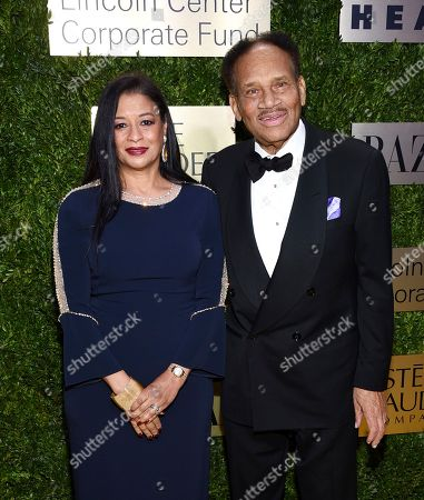 Tracey Travis, Richard Travis. Estee Lauder Companies CFO Tracey Travis, left, and husband Richard Travis arrive at The Lincoln Center Corporate Fund Fashion Gala honoring Leonard A. Lauder at Alice Tully Hall, in New York