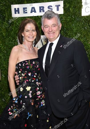 Stock Image of William P. Lauder, Lori Kanter Tritsch. Estee Lauder Companies executive chairman William P. Lauder, right, and wife Lori Kanter Tritsch arrive at The Lincoln Center Corporate Fund Fashion Gala honoring Leonard A. Lauder at Alice Tully Hall, in New York