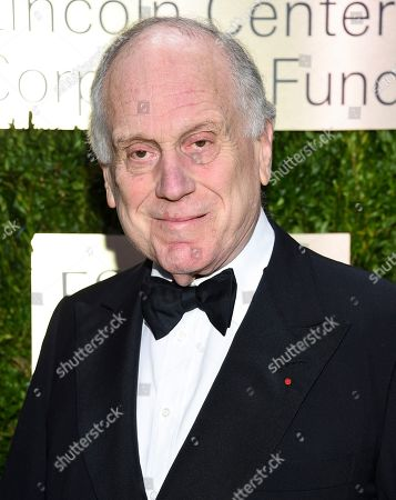 Clinique Laboratories chairman Ronald Lauder arrives at The Lincoln Center Corporate Fund Fashion Gala honoring Leonard A. Lauder at Alice Tully Hall, in New York