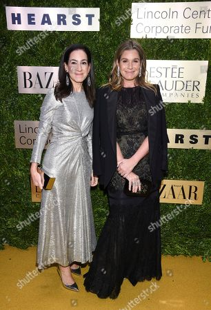 Jane Lauder, Aerin Lauder. Clinique global brand president Jane Lauder, left, and AERIN founder Aerin Lauder arrive at The Lincoln Center Corporate Fund Fashion Gala honoring Leonard A. Lauder at Alice Tully Hall, in New York